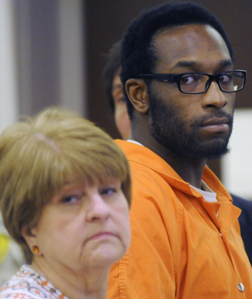 David W. Marble Jr. pleaded not guilty to two murder charges Tuesday when he appeared at the Capital Judicial Center in connection with a Christmas Day double homicide in Manchester.