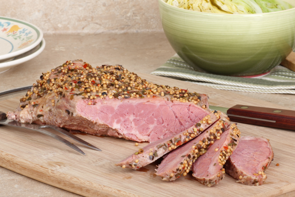 Corned beef is the star of St. Patrick's Day, with accompaniments of your choice.