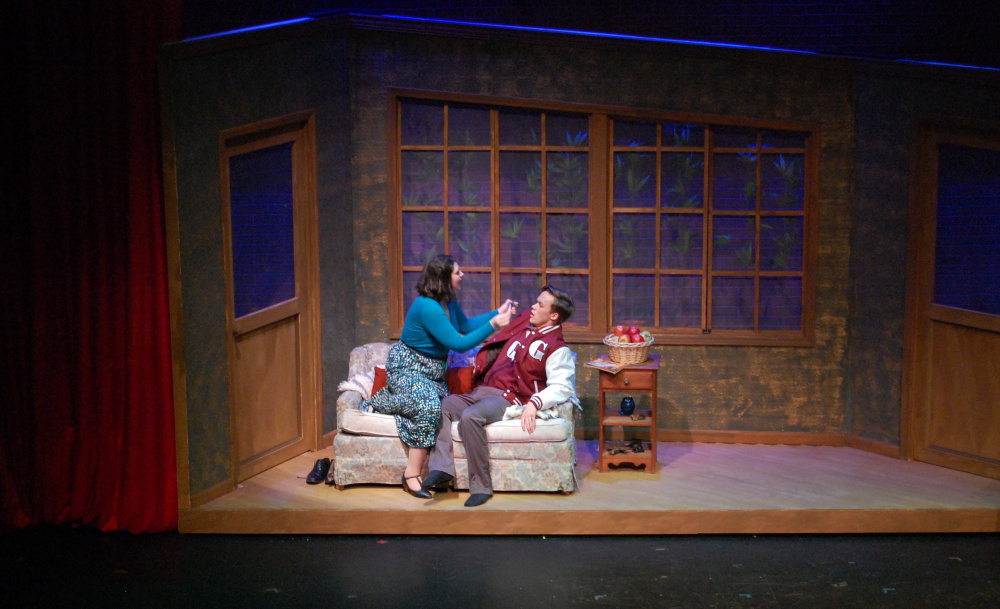 """""""Reefer Madness: The Musical"""" on stage at Russell Hall at the Gorham campus of USM. Photo courtesy University of Southern Maine"""