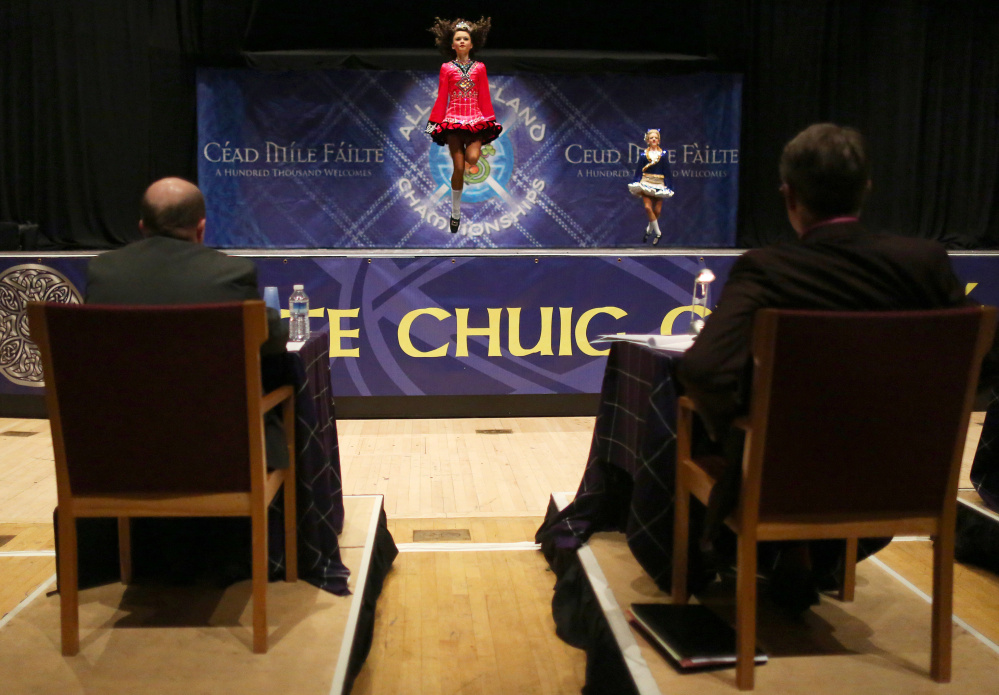 Though Irish step dance performances are often done in a group, the majority of the competitions at the Glasgow championships are solo routines judged by a panel.