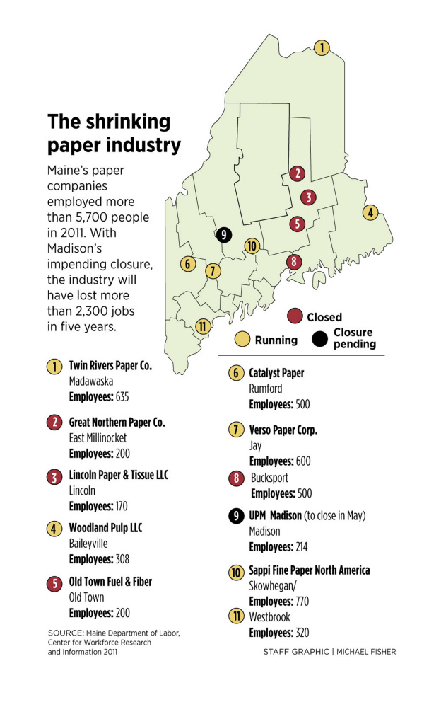 The Shutdown Of The Paper Mill In Madison Is Expected To Reverberate Throughout The Somerset County Town Of About 4 800 People Michael Seaman 2015 Morning