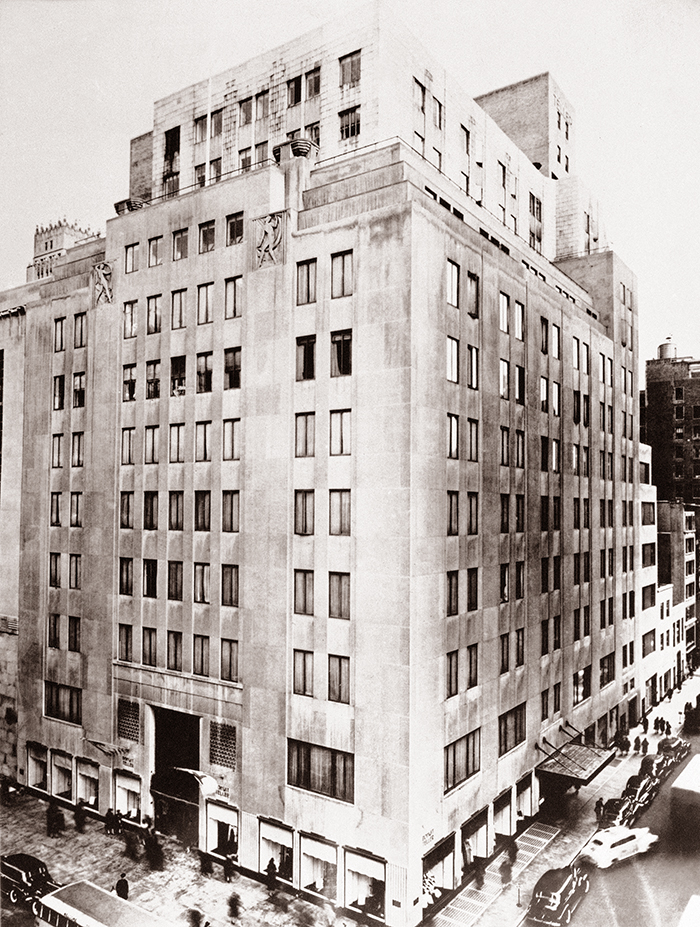 The old Bonwit Teller Building at 721 Fifth Ave. on the corner of 56th Street in New York City, as it looked in 1956. The Metropolitan Museum of Art asked Donald Trump to save the two stone bas-relief sculptures high on the façade. The Associated Press