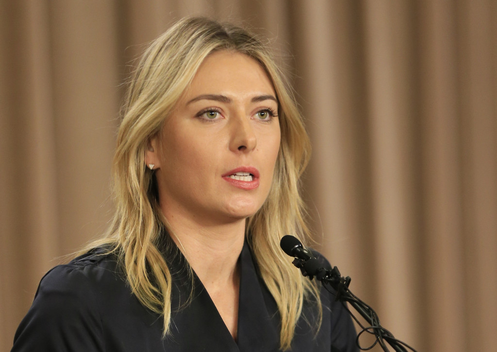 Tennis star Maria Sharapova talks about testing positive for a banned drug during the Australian Open.   The Associated Press