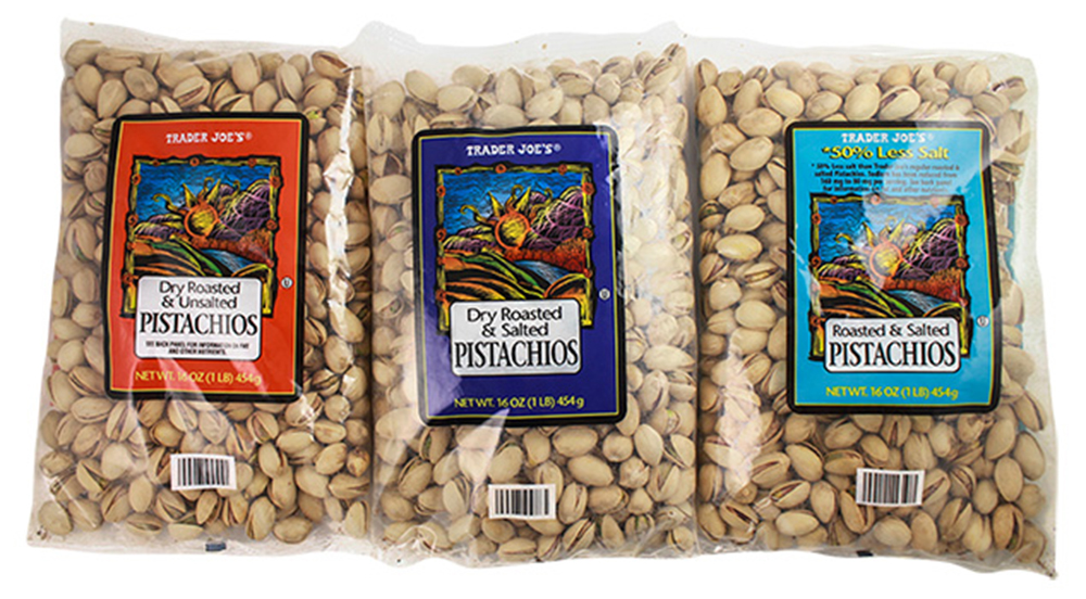 Trader Joe's issued a recall on Wednesday after a potential threat of salmonella was detected in certain lots of in-shell, roasted pistachios. Photo courtesy of Trader Joe's