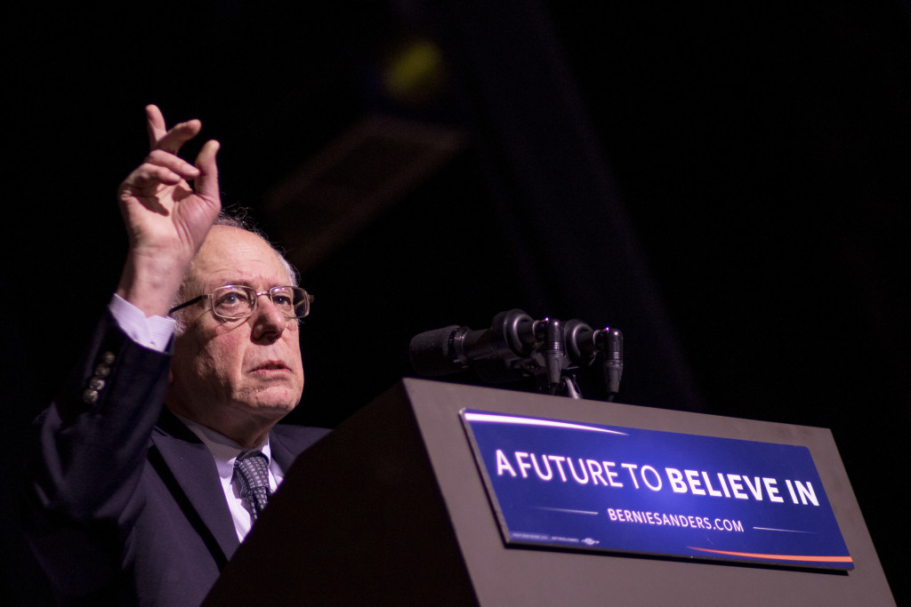 Bernie Sanders speaks in Keene, N.H., in this Feb. 2, 2016, photo. Gabe Souza/Staff Photographer