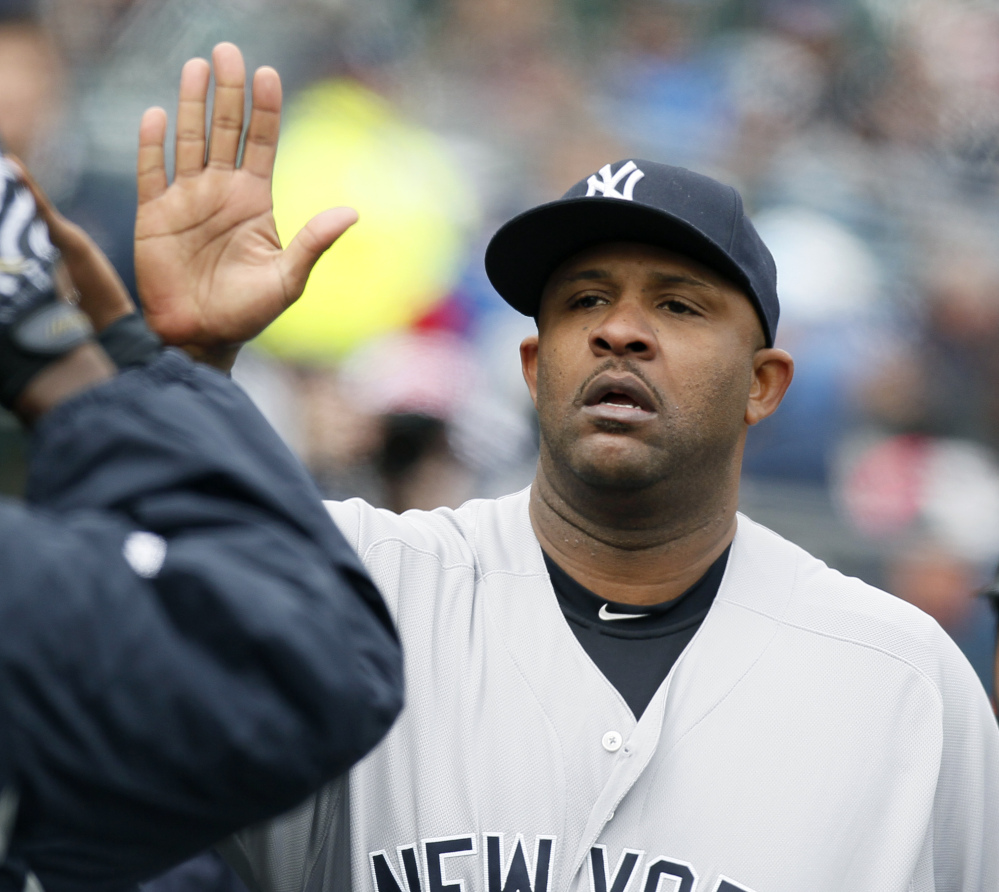 Yankees pitcher CC Sabathia hopes he's be high-fiving after Monday's Game 3 of the ALCS against the Houston Astros.