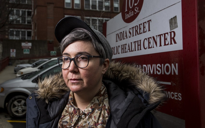 Ann Spencer of Portland, a volunteer at the India Street health clinic, says ending programs and displacing patients
