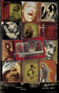 "Drew Hodges' poster from ""Rent."""