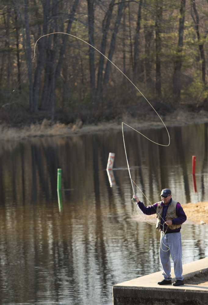 fishing season off to a fast chilly start in maine