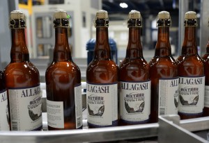 Sixteen Counties on the production line at Allagash. Shawn Patrick Ouellette/Staff Photographer