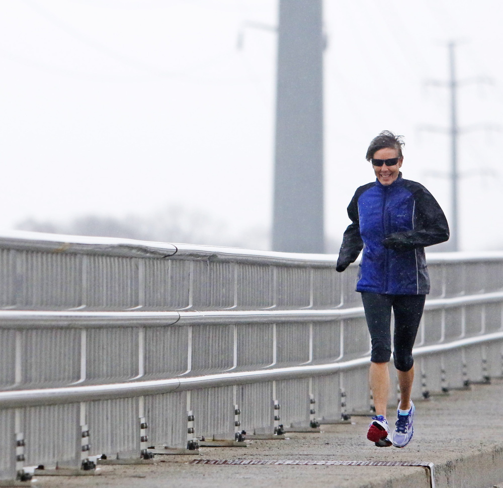 Sherry Missig of Yarmouth has run 13 marathons, but she had never qualified for the Boston Marathon until she achieved the qualifying standard at the 2014 Mount Desert Island Marathon.