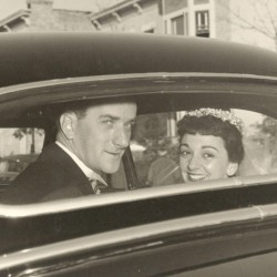 Robert and Lucille Robinson met at a party at Boston College in 1951. Lucille was impressed when Robert, a law student, rattled off times for Mass services.
