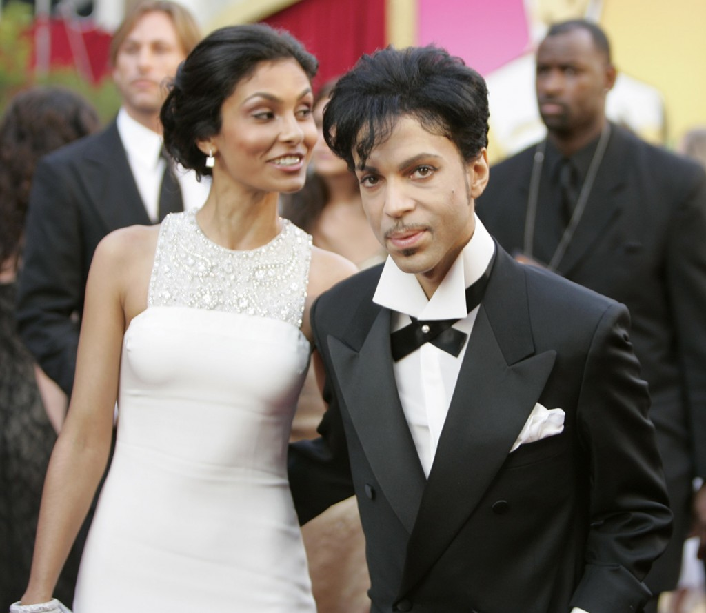 FEB. 27, 2005: Prince and wife Manuela Testolini arrive at the 77th annual Academy Awards in Hollywood.