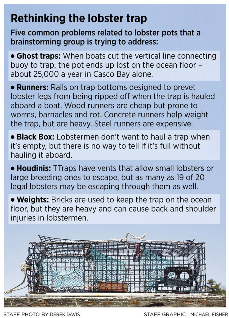 At 'Lobster Hack,' crowd takes in-depth look at building a better lobster trap - Portland Press ...