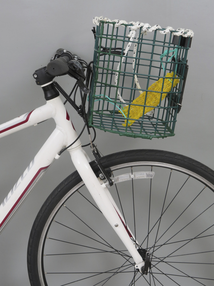 Maine Man Makes Baskets For Bicycles Out Of Old Lobster