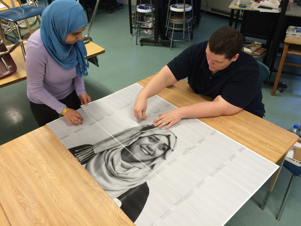 Trina Sayed has been working on the portraits for