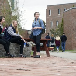 University of Maine students gather on the Orono campus. The number of out-of-state students at UMaine will rise from 731 last year to at least 1,123 in 2016-17.