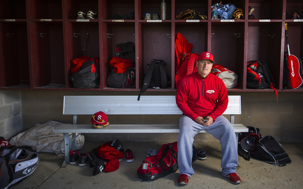 When Mike D'Andrea applied to become the Scarborough High baseball coach, Athletic Director Mike LeGage immediately put him at the top of the list. In his first season, D'Andrea has the Red Storm in contention with a 9-2 record, while teaching as well as coaching.