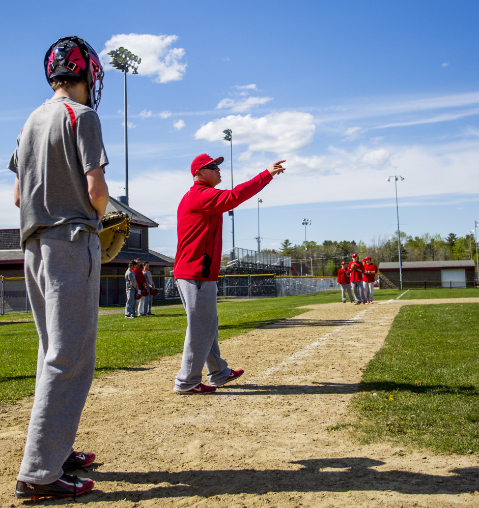 Whether it's rundown drills or showing the right way to run on and off the field, Mike D'Andrea has the Scarborough baseball players paying attention to details.