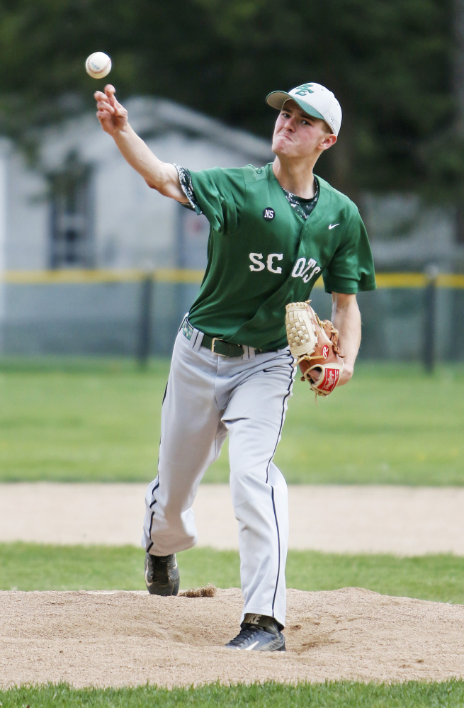 Troy Bogdahn of Bonny Eagle consistently came up with tough pitches when he needed them Thursday, scattering 10 hits but allowing just one unearned run over eight innings in a 2-1 victory against Massabesic.
