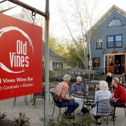 Old Vines Wine Bar in Kennebunk's Lower Village has outdoor seating. Gregory Rec/Staff Photographer