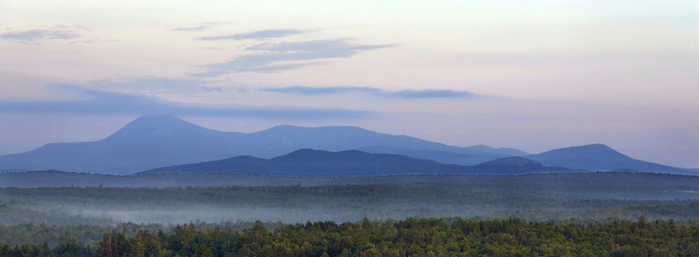 Roxanne Quimby's foundation transferred acreage in the Katahdin region to the federal government on Tuesday. It's likely a first step in the creation of a national monument in Maine's North Woods.