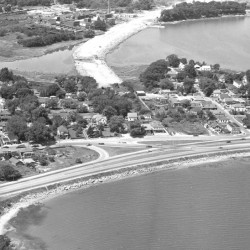Aerial view of East Deering in 1959.