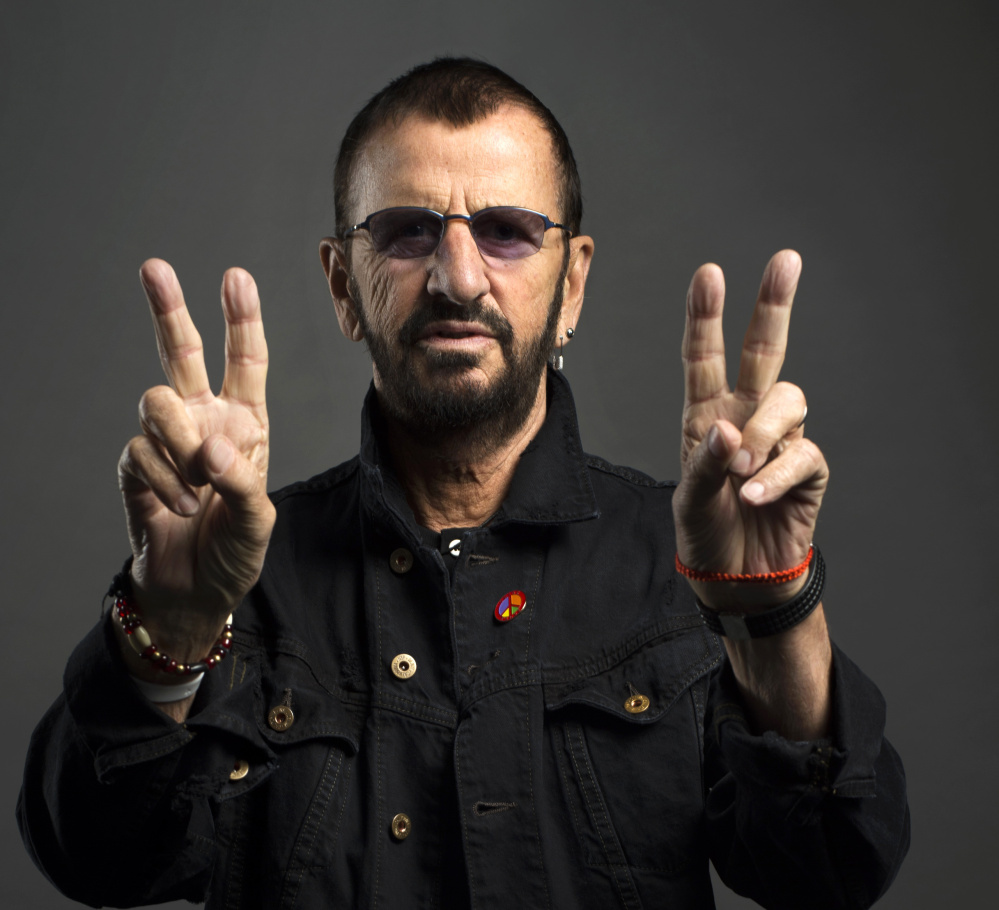 ringo starr sends message of peace and love portland press herald. Black Bedroom Furniture Sets. Home Design Ideas