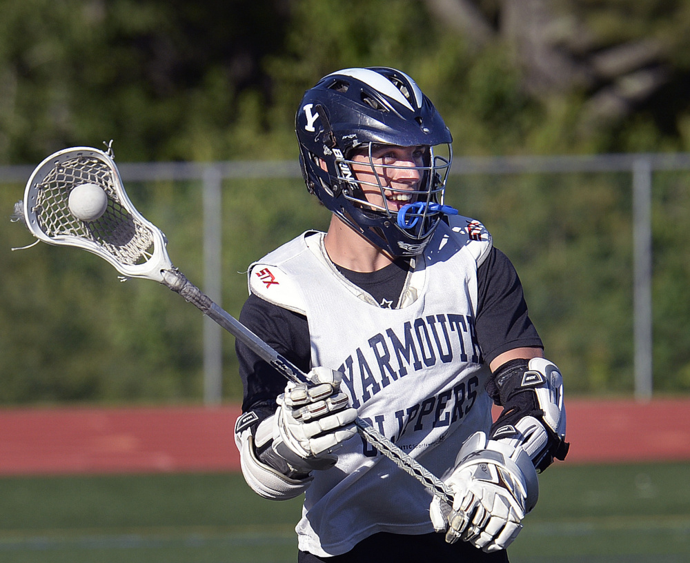 Yarmouth's Walter Conrad and his senior teammates are getting their wish, to end their high school careers with a game against Falmouth – the first time the rivals have met in a state final.