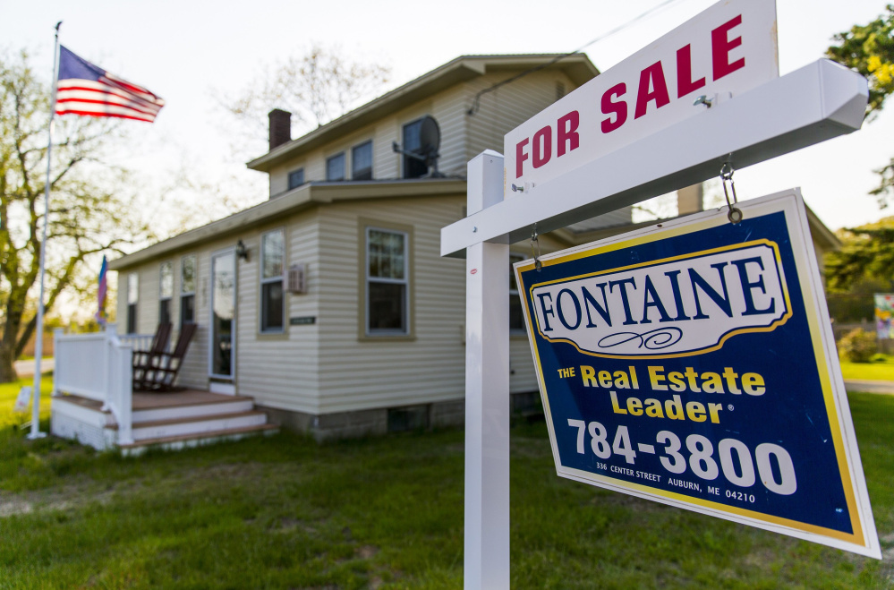 This house at 2 Seaside Ave. in Saco was listed for $250,000 last month. Sales of existing homes in York County jumped 28 percent in May over a year earlier, and the median price in the March-to-May period was up $10,000.