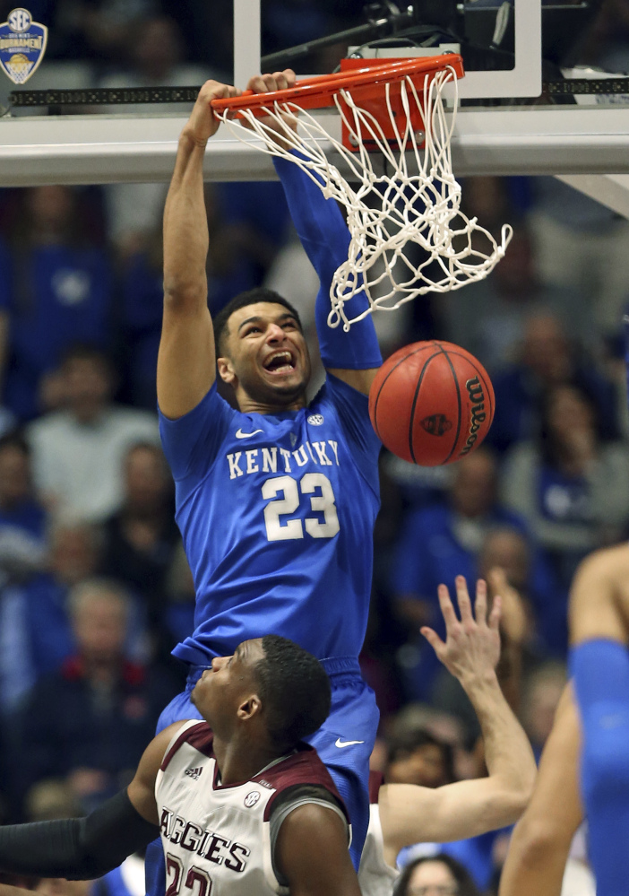 Kentucky's Jamal Murray was a first-team All-SEC selection, averaging 20 points per game. He was exceptional from three-points range, making a total of 119.