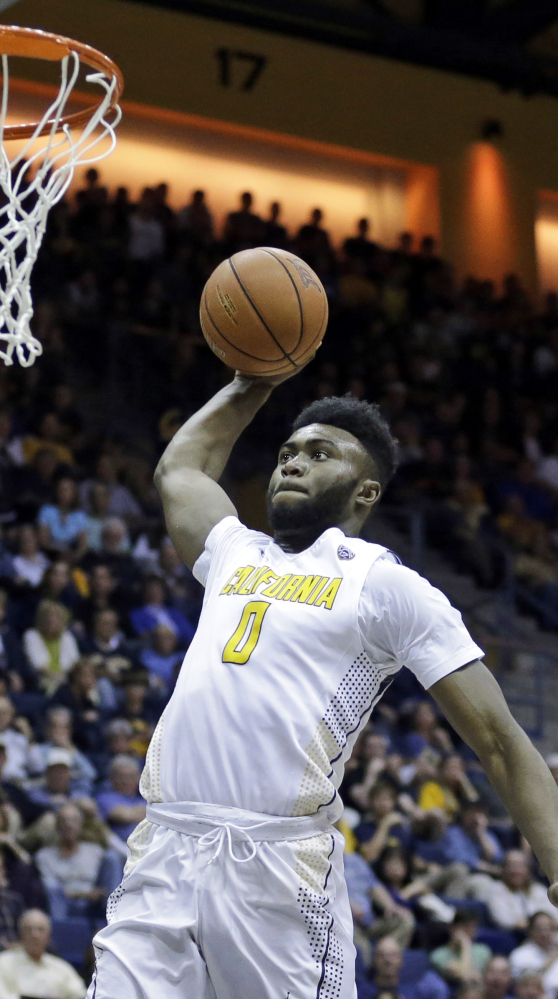 Jaylen Brown, a freshman at California, is a 6-foot-7 guard who could be a Boston pick. He averaged 14.6 points  game, including this two against Oregon State in February.