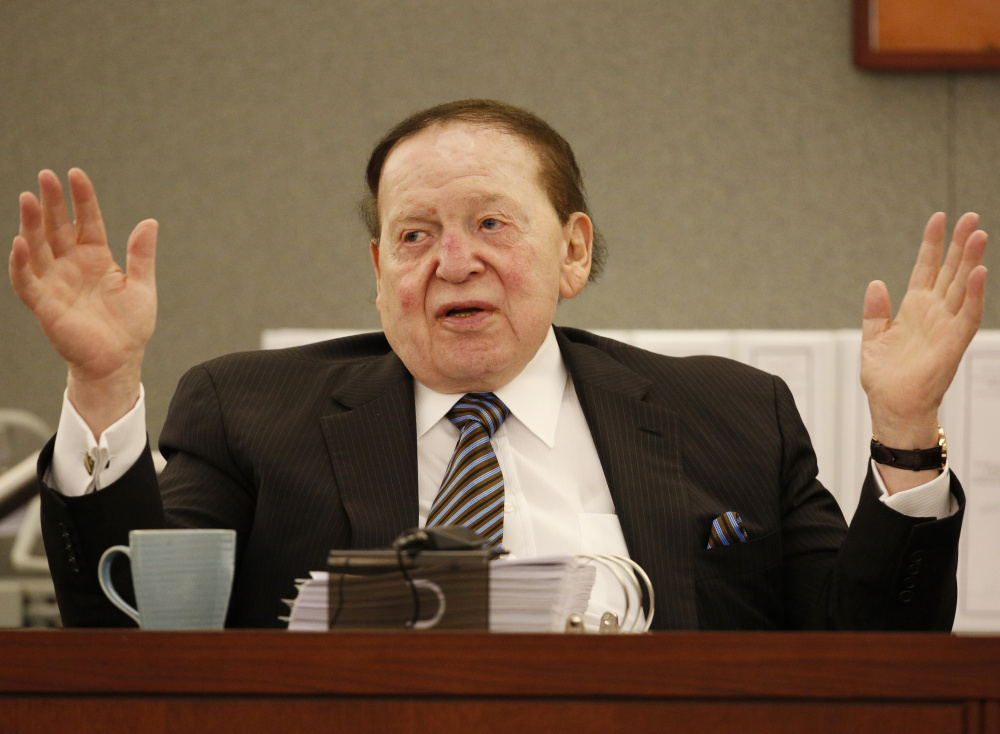 Las Vegas Sands Corp. Chairman and CEO Sheldon Adelson is proposing a 65,000-seat domed football stadium, hoping to draw the Oakland Raiders to Las Vegas.