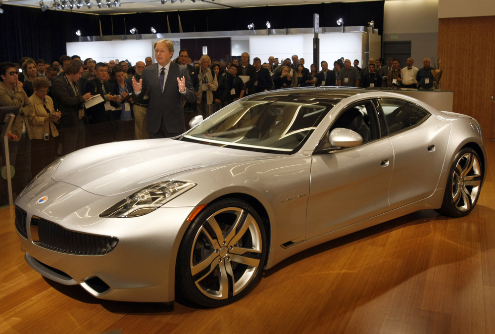 Designer Henrik Fisker unveils the Karma at the 2009 Los Angeles Auto Show. The new Karma Revero being built in Moreno Valley, California, will look and drive a lot like its predecessor Fisker Karma.