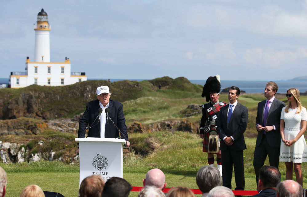 Donald Trump, in Scotland on Friday after the United Kingdom voted to leave the European Union, saluted the decision, saying the nation's citizens
