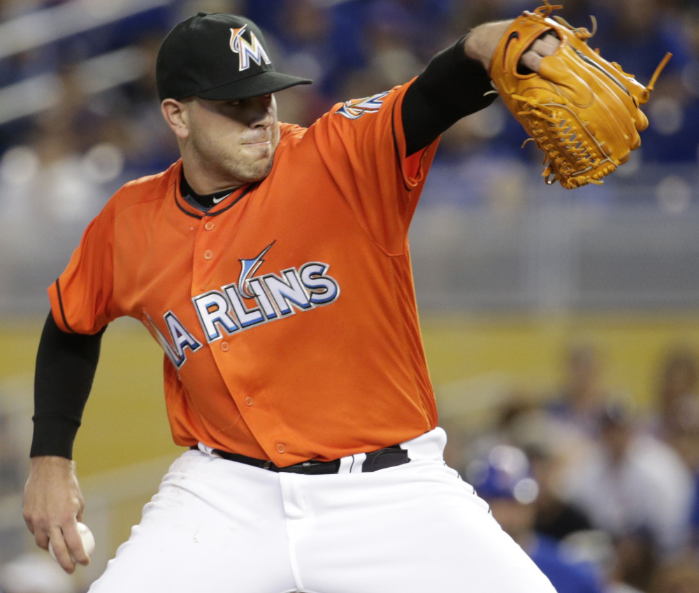 Jose Fernandez pitches during a game against the Chicago Cubs in June.