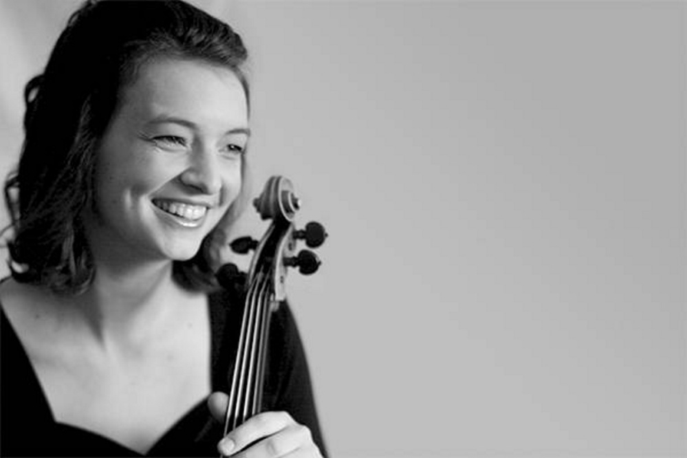 Rebecca Albers performed at the opening concert of the Bowdoin International Music Festival.
