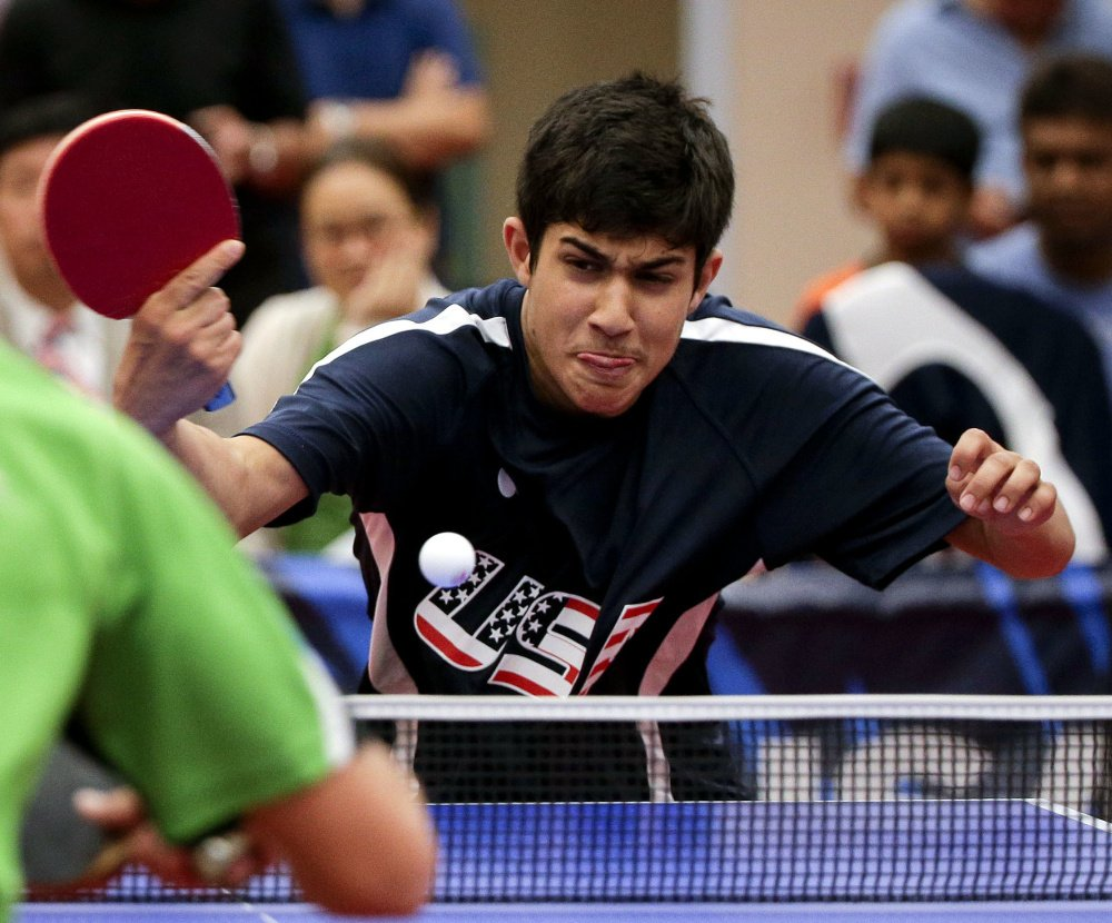 Kanak Jha, 16, has been working on the mental aspect of table tennis, using a self-talk technique before and during matches.