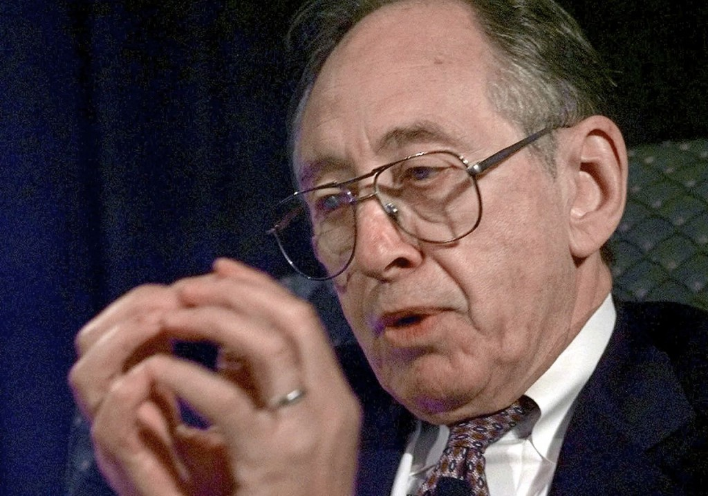 Author Alvin Toffler, who is best known for his book