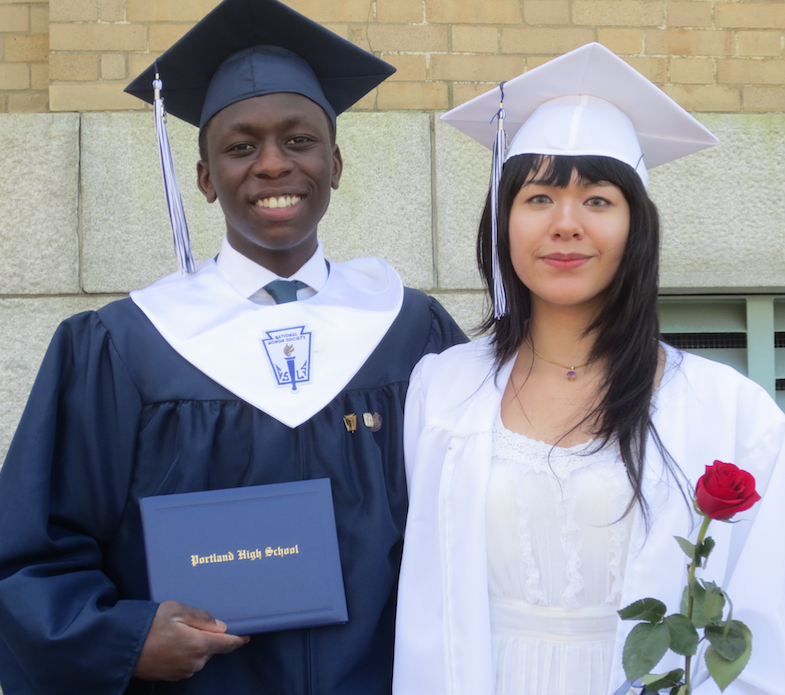 Moses Small and Kathy Truong were among Portland High School's graduates.
