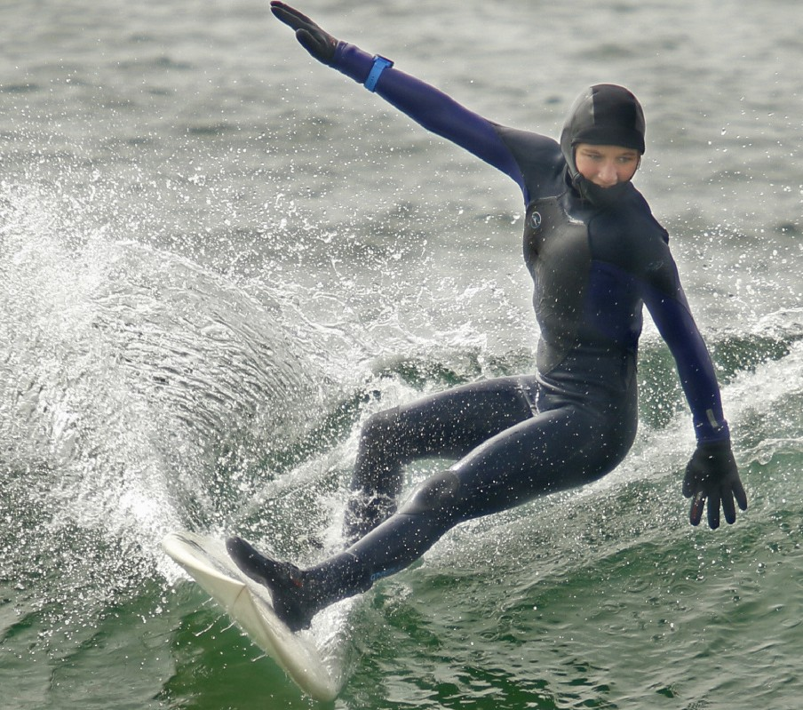 At age 13, Maddie Ryan of Arundel is already being hailed as one of the best surfers in Maine.