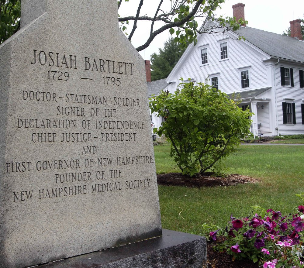 The home of New Hampshire statesman and signer of the Declaration of Independence Josiah Bartlett is up for sale after being in the family for seven generations.