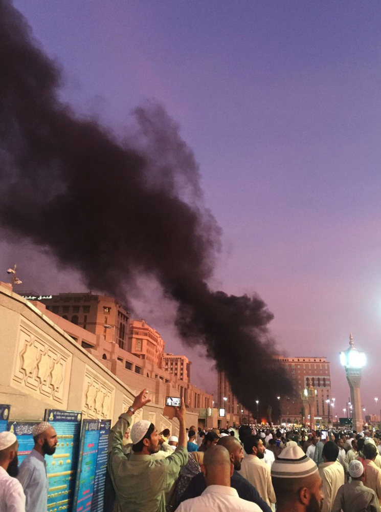 No group has yet claimed responsibility for an explosion near one of Islam's holiest sites in the city of Medina, Saudi Arabia, Monday, in which four Saudi security troops were killed and five wounded.