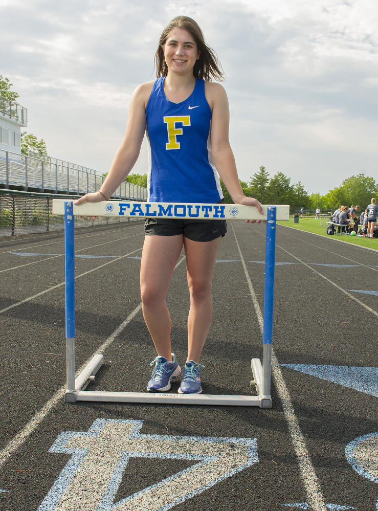 Not only was Adelaide Cooke among the state's top-ranked athletes in all three throwing events, she was also talented enough to place fourth in the 100-meter hurdles at the Class A state championships.