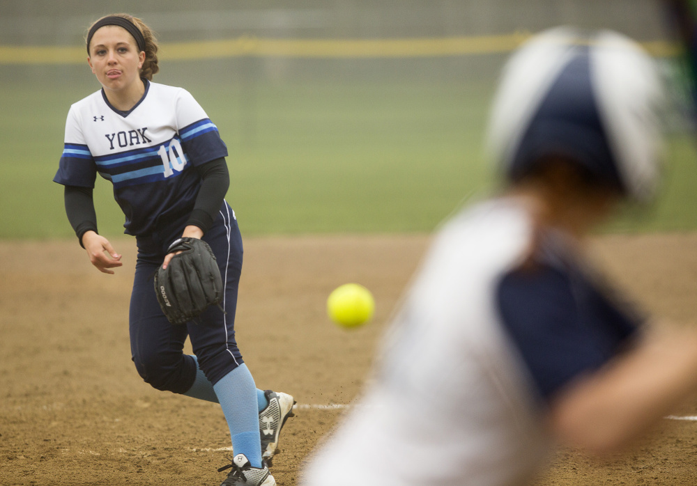 Stephanie Rundlett knows how to control tight situations, including six consecutive strikes that bailed York out of a bases-loaded jam against Greely in the regional final.