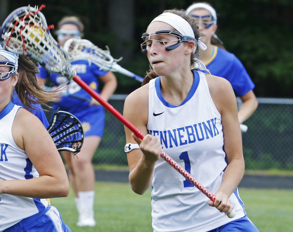 Jenny Bush will remember not only the excitement of helping Kennebunk win its first Class B girls' lacrosse state title, but all the work that went into it for herself and her teammates. Next season Bush will play at Assumption College in Worcester, Mass.