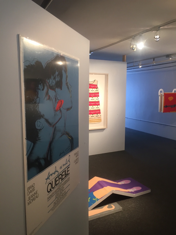 Works by Andy Warhol and Adam Eddy.
