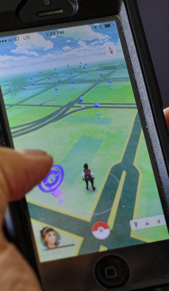 Players of 'Pokemon Go' tend to keep their eyes on their phones rather than where's they're going.