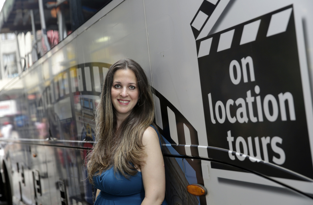 Georgette Blau, owner of On Location Tours in New York, usually gets a third of her business from Britons. Since the Brexit vote, she's had a nearly 20 percent drop in overall revenue, poses for photos beside one of her company's buses, in New York. Britain'Äôs vote to leave the European Union has many U.S. small and medium-sized companies in limbo because they do business in the U.K. or other countries nearby. On Location Tours in New York, which specializes in outings to places where TV shows like 'ÄúSex and the City'Äù and 'ÄúGossip Girl'Äù were shot, usually gets nearly a third of its business from Britons visiting the U.S. (AP Photo/)