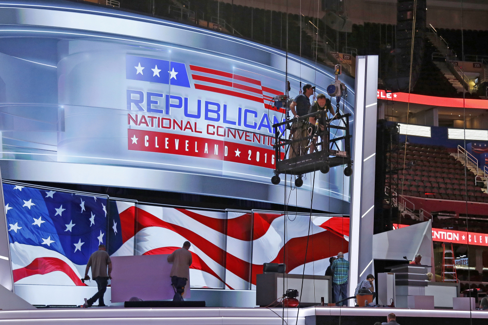 The Republican National Convention will open in Cleveland, Ohio, in a political climate so divisive that more than 70 law enforcement and government agencies are on alert.